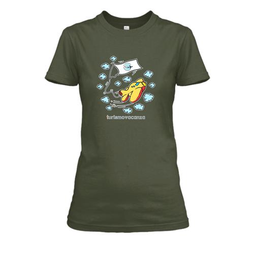 T-Shirt Donna Verde Militare