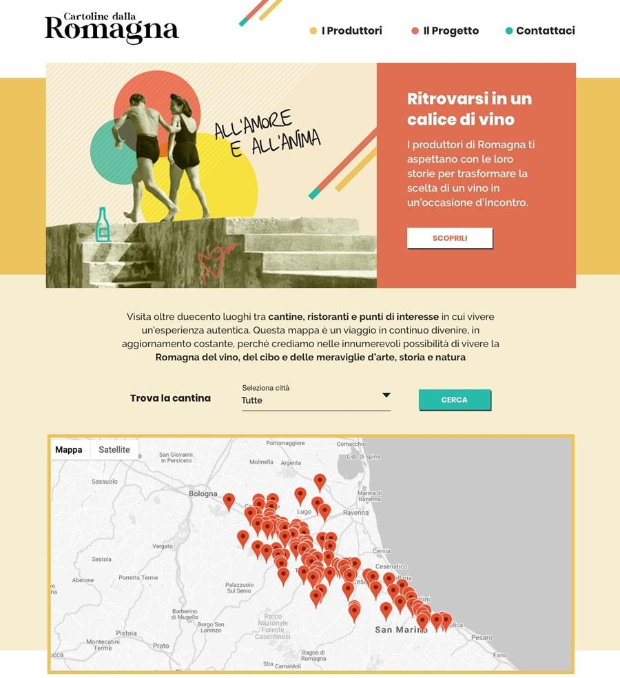 Cartoline dalla Romagna: portale dei produttori di vino romagnoli